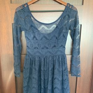 Keepsake the label — Lace Long Sleeve Dress